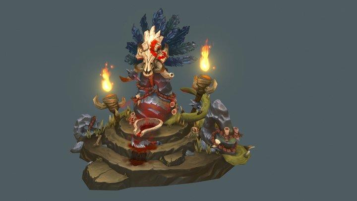 Quilboar Blood Shrine to Agamaggan 3D Model