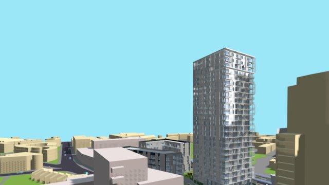 Langdon Tower 3D Model