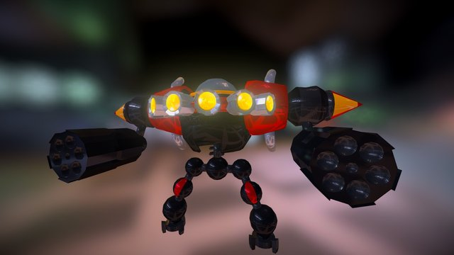 Eggman's Mech from Sonic Unleashed 3D Model