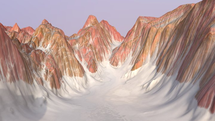 Foreign Canyon - Terrain 3D Model