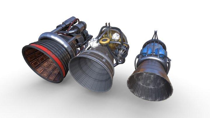 Rocket Engines 3D Model
