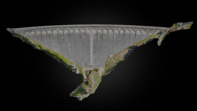 Barrage du Chartrain - nuage de points 3D Model