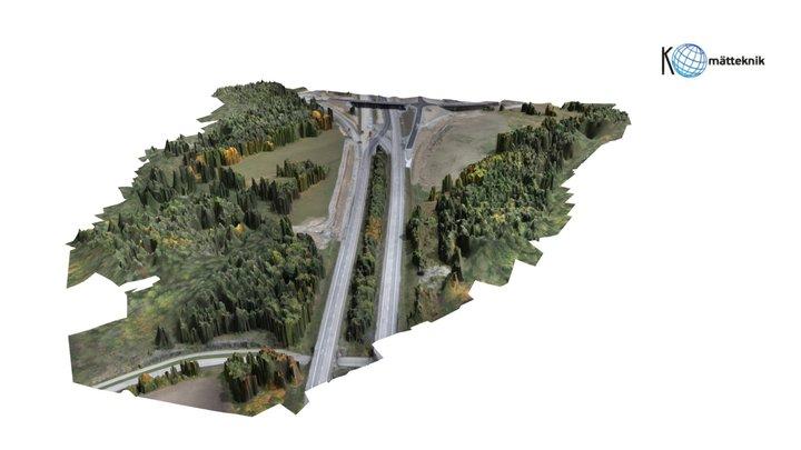 Road construction site 3D Model