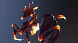 Fiery deer 3D Model