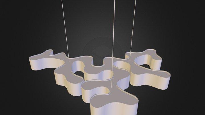 organic hanging light.3DS 3D Model