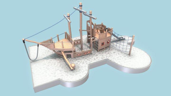 Playground Wood Ship (Final Version) 3D Model