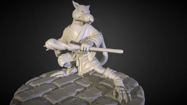 Splinter figure from TMNT - Zbrush 3D Model