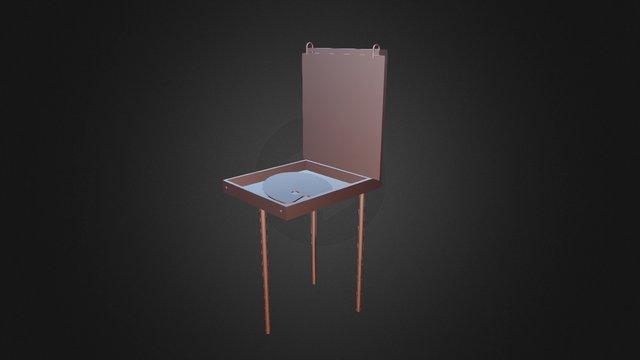 easel and palette 3D Model