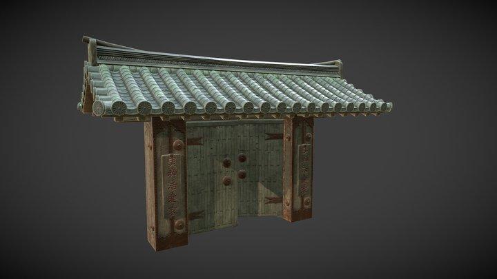 Japanese Gate 3D Model