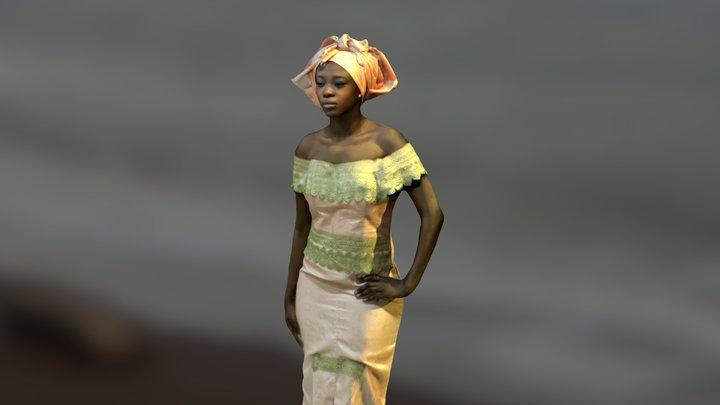 Senegalese woman 3D Model