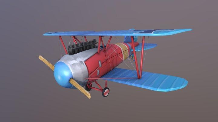 Albatros D.III Stylised Plane - DAE 3D Model