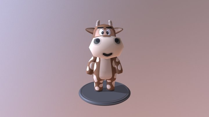 Cow character 3D Model