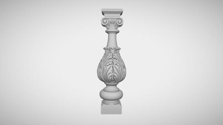 Wooden baluste 3D Model