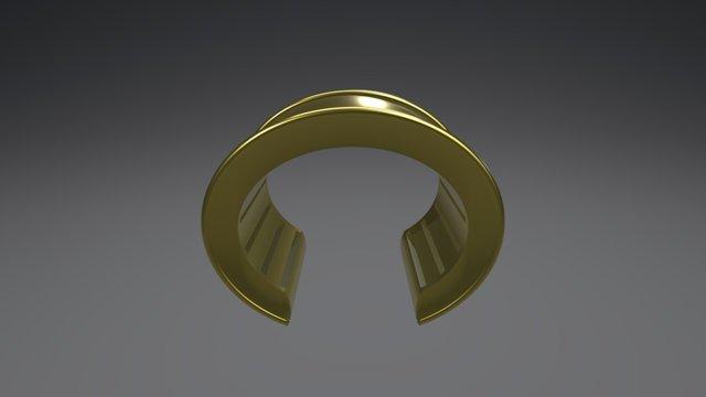 Roman Cuff Bracelet 3D Model