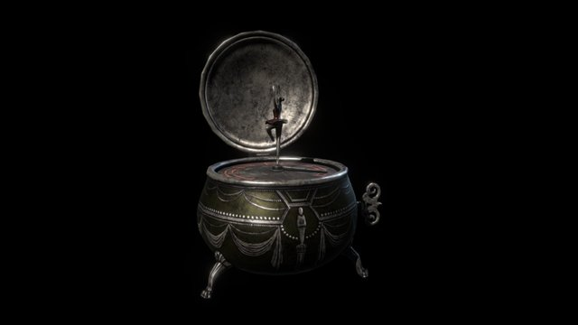 Music box, Notes of Obsession 3D Model