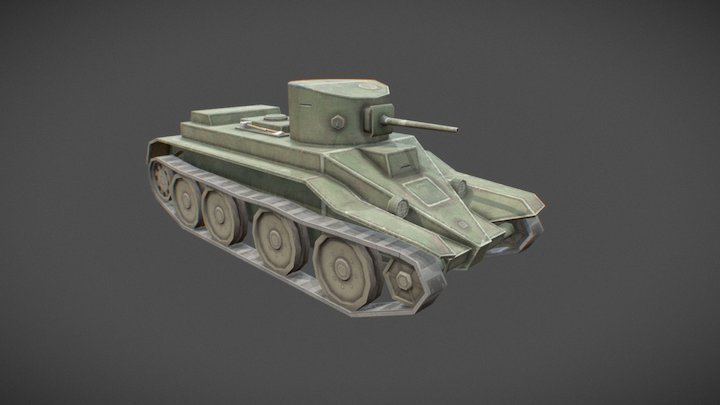 BT-2 Toon Tank 3D Model