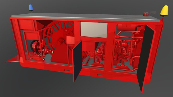 Fire Fighting Equipment 3D Model