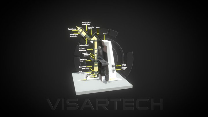 Optical Microscope 3D Model