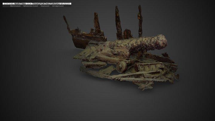 Cannon, detail from the Dalarö wreck/Bodekull 3D Model