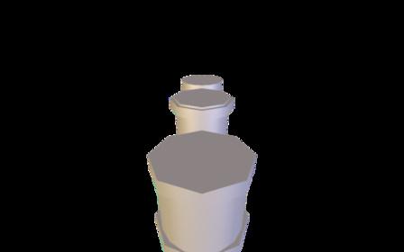 KSP Cylinder Probe Concept 3D Model