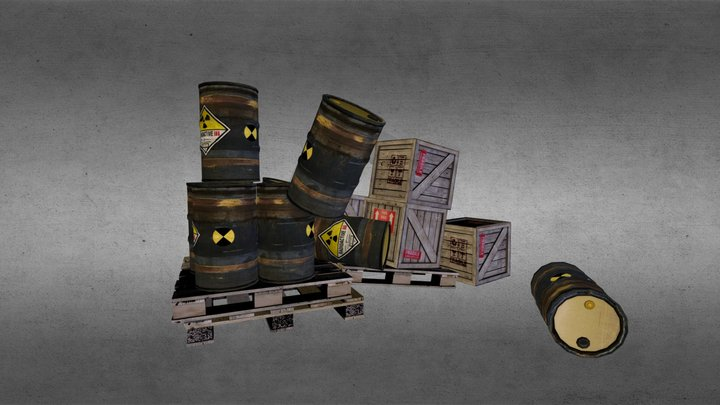 Box and Barrels test 3D Model