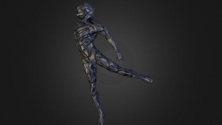 Bot in Motion 3D Model