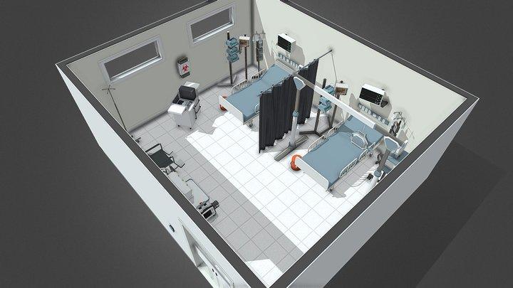 Covid-19 ICU room 3D Model