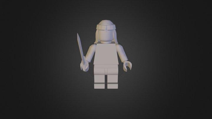 Test Legoman 3D Model