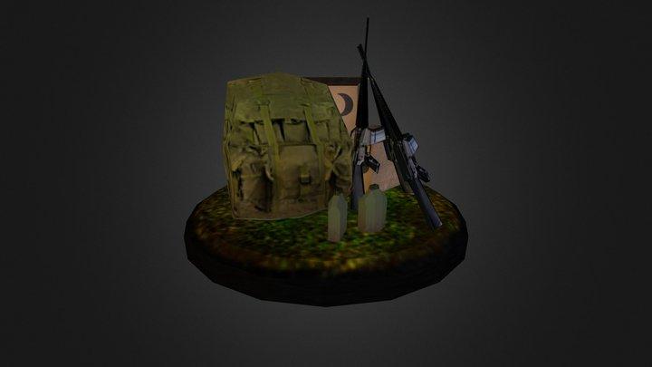 MCRD Parris Island Detail Objects 3D Model