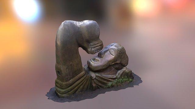 Statue (Bacchus?) on Bath - Bristol cycle path 3D Model