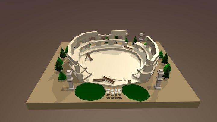 Low-Poly Colloseum 3D Model