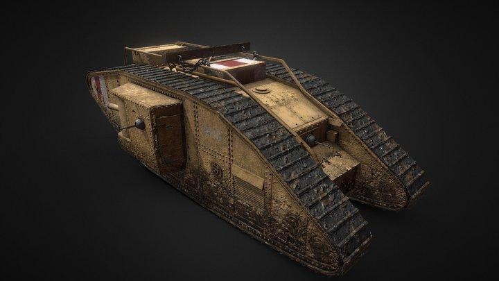 Mark V WW1 Tank 3D Model
