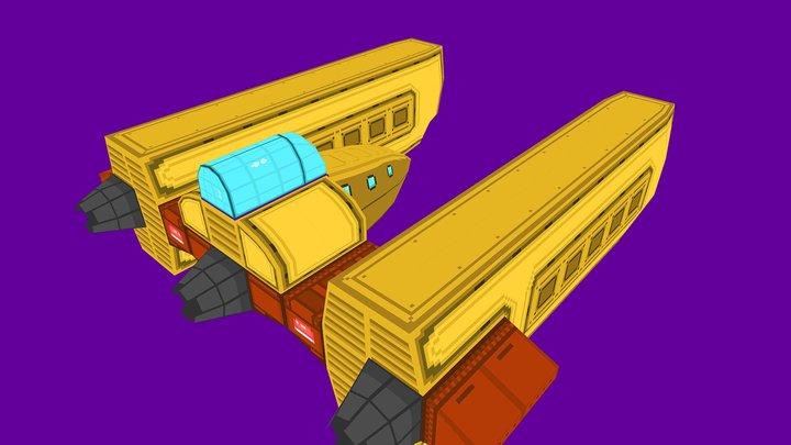 R-Zero: CS Marchana - Lowpoly Cargoship 3D Model