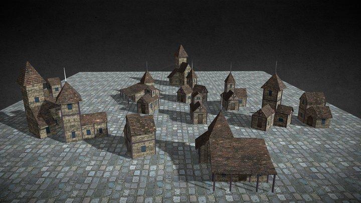 Houses Blender 3D Model