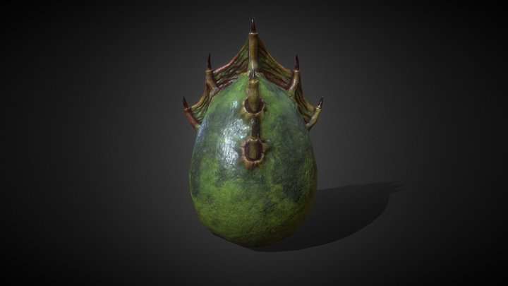 Animated. Dragon Egg - 20 3D Model