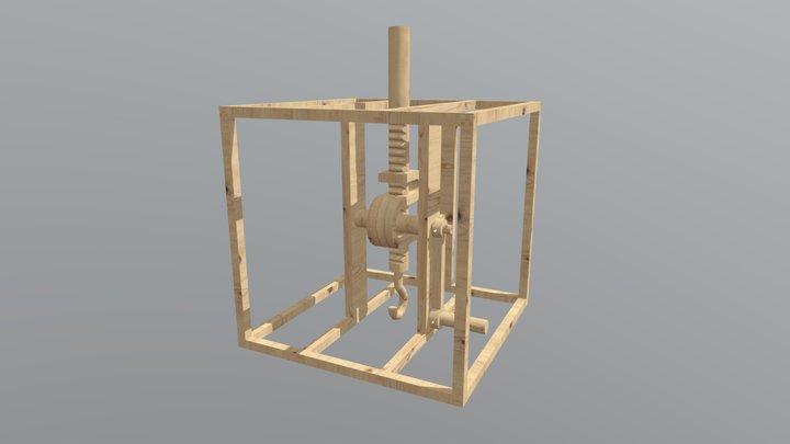Pignone e cremagliera / Rack and pinion 3D Model