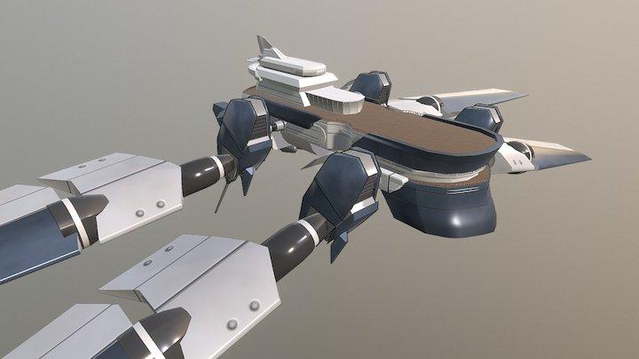 RWBY Air Ship 3D Model