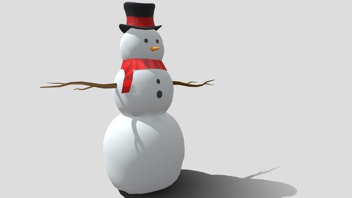Snowman losing his nose 3D Model