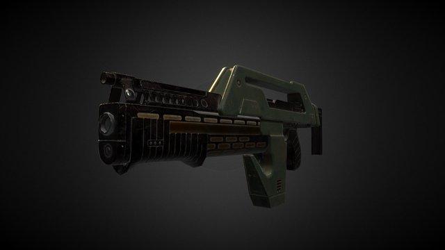 Aliens Pulse Rifle 3D Model