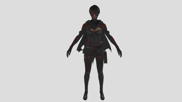 3d model free fire reaper bundle 3D Model