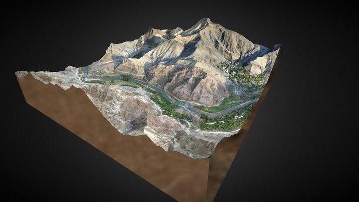 3D Mountain Model #1 / Artvin-Yusufeli 3D Model