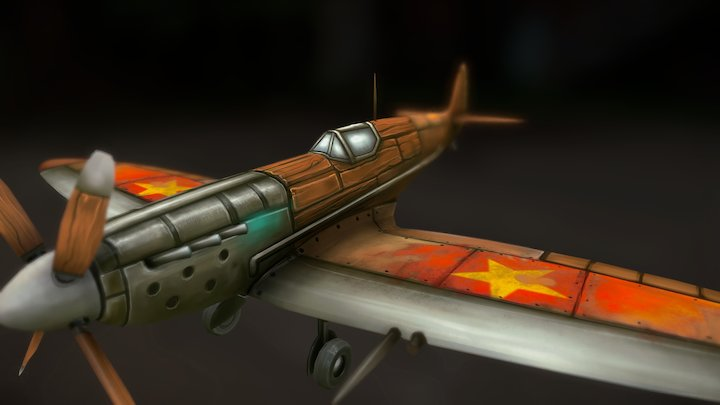 Vietnamese Hanpainted Spitfire 3D Model