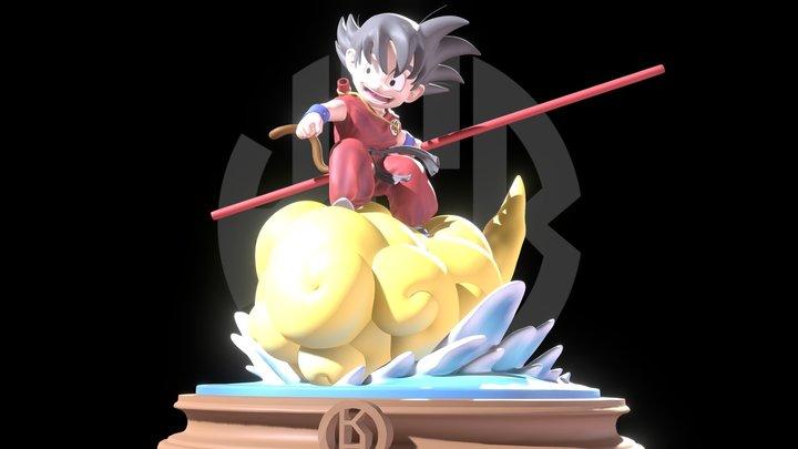 Goku Kid Kinton 3D Model