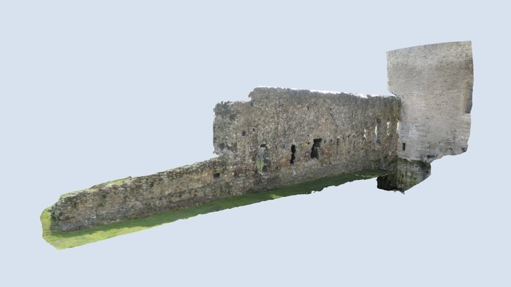 Inner Guard Wall, Tower of London, UK 3D Model