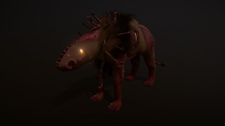 Manticore (11 Animations) 3D Model