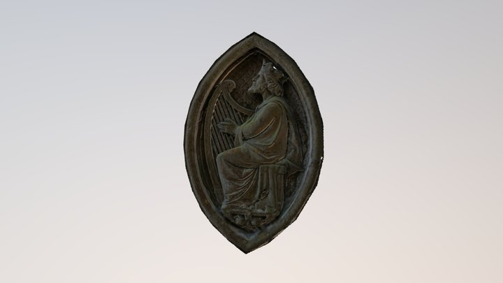 King With Harp 3D Model