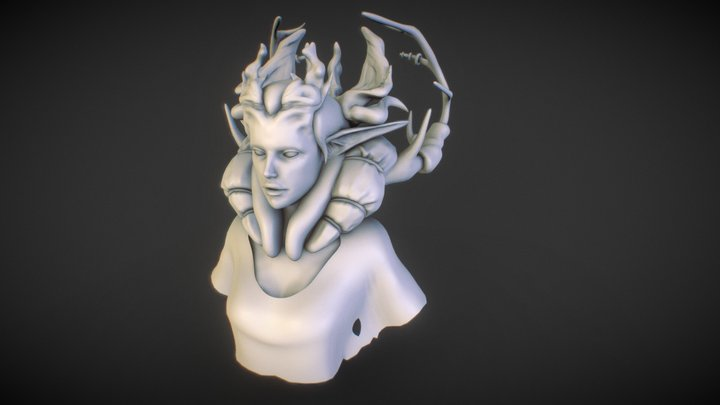 Vailed Mother Ambient 3D Model