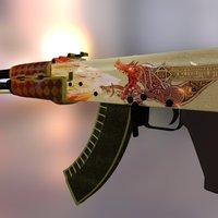 Ak-47   Dragon Lore 3D Model
