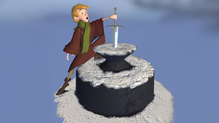 Arthur - The sword in the stone 3D Model