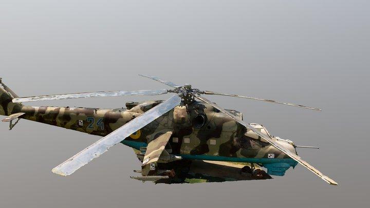 Mil Mi-24 Photogrammetry model_updated 3D Model